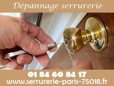 Dépannage serrurerie Paris 18