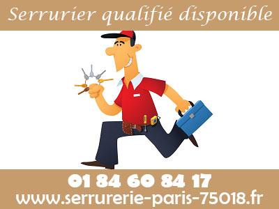 serrurier Paris 18 qualifié et disponible