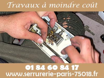 Tarif serrurier Paris 18 moins cher