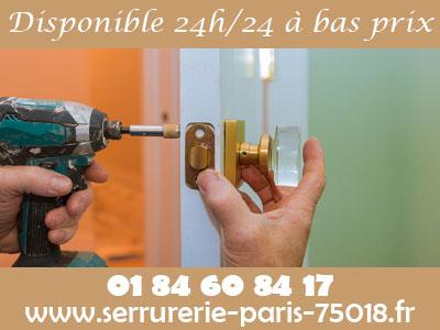 Serrurier Paris 18 disponible à bas prix