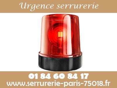 Urgence serrurerie Paris 18